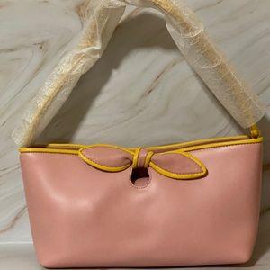 Furla Bowtie Leather Baguette Shoulder Handbag